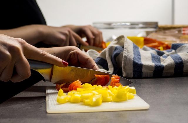řezání zeleniny