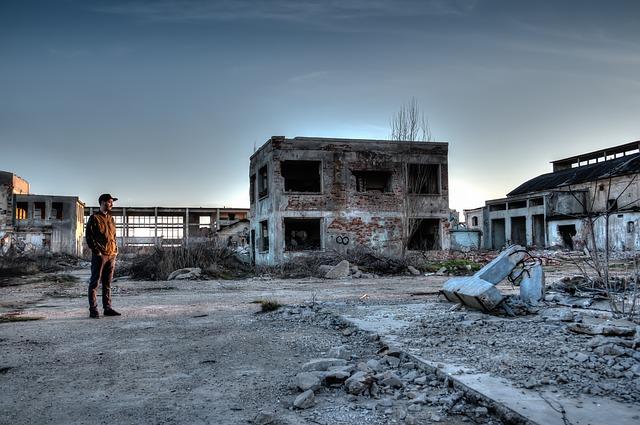 Město v rozvalinách